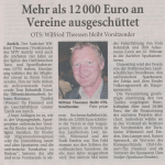 Mehr als 12.000 € an Vereine ausgeschüttet