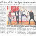Ein Rhönrad für den Sportförderverein - Sportgerät wurde mit der Spende des Ex-Brandkassenchefs Joachim Queck finanziert